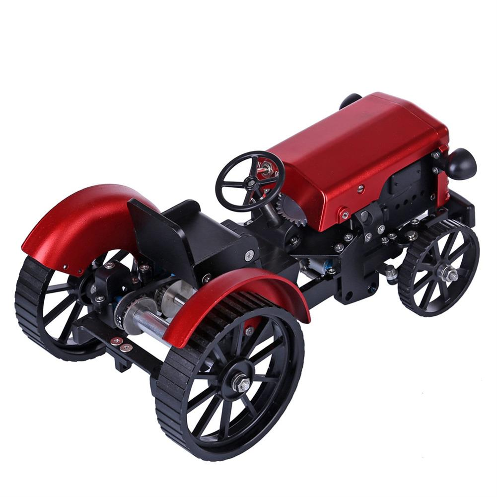 science-discovery-toys Teching Assembly Simulative Mini APP Controlled Electric Metal Red Tractor Model Toy Gift HOB1774892 2