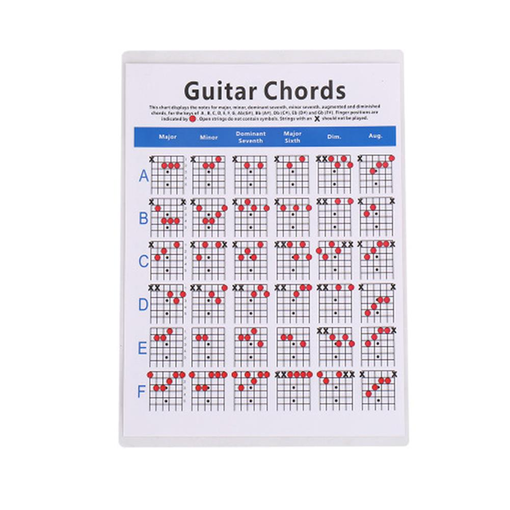 guitar-accessories Ukulele Classical Electric Guitar Chords Folk Guitar Chord Fingering Chart Practice Chart HOB1775065