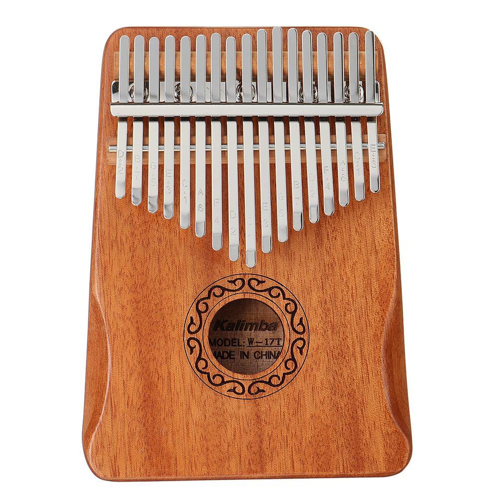 kalimba 17 Key Kalimba Thum Finger Piano Beginner Practical Wood Muscial instrument Set HOB1775400