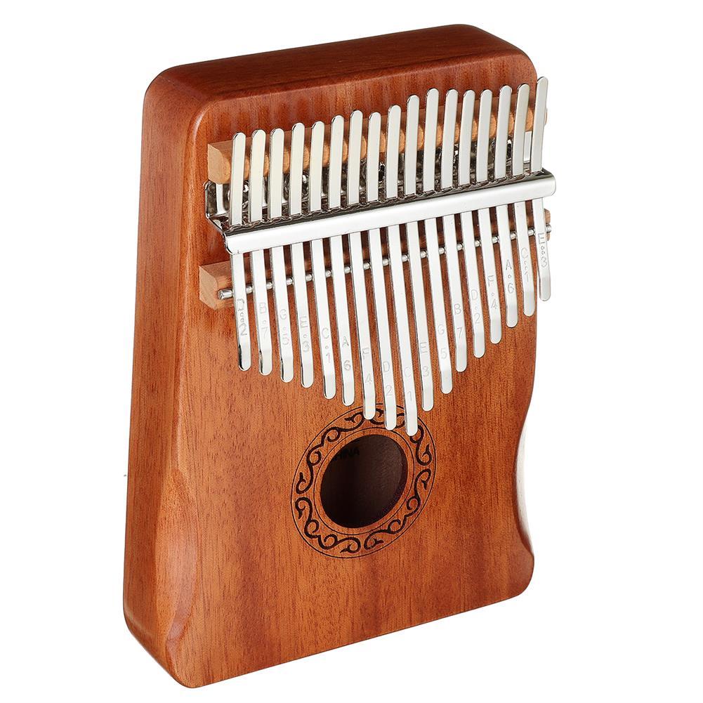 kalimba 17 Key Kalimba Thum Finger Piano Beginner Practical Wood Muscial instrument Set HOB1775400 2