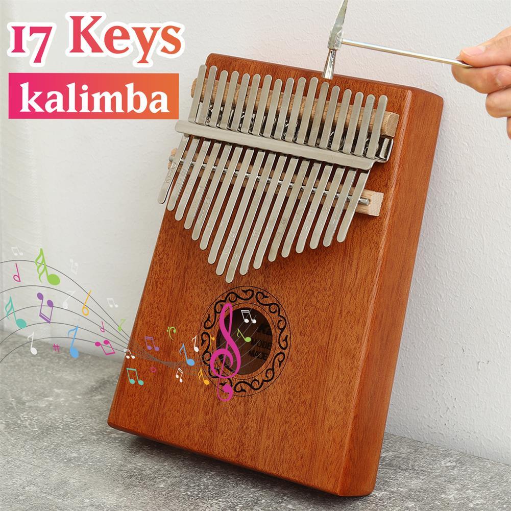 kalimba 17 Key Kalimba Thum Finger Piano Beginner Practical Wood Musical instrument Kit HOB1776088