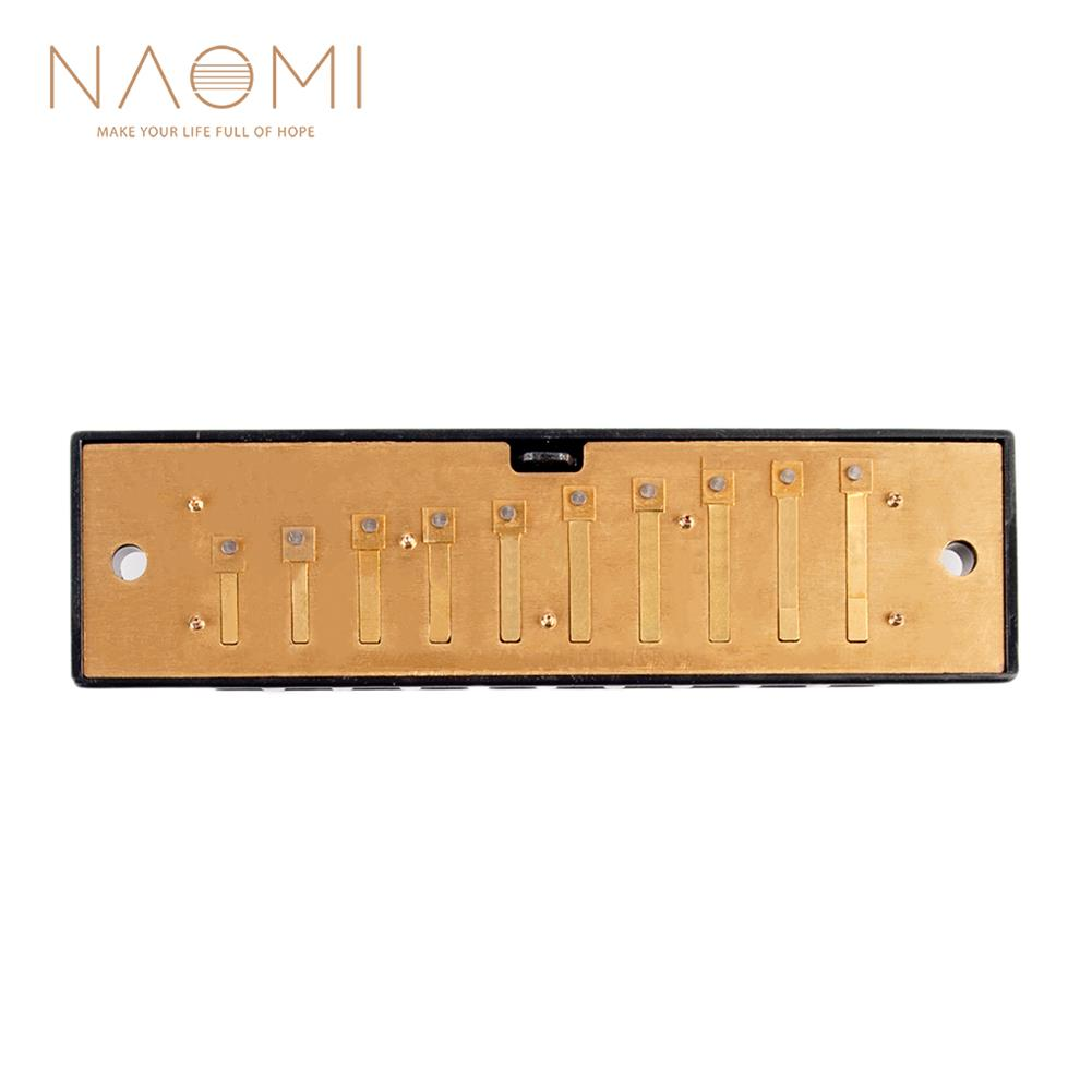 harmonica Naomi 10 Holes Harmonica Reed Replacement Reed Plates Key of C Brass Reed Unfinished Harmonica Comb Woodwind instrument Parts HOB1777029