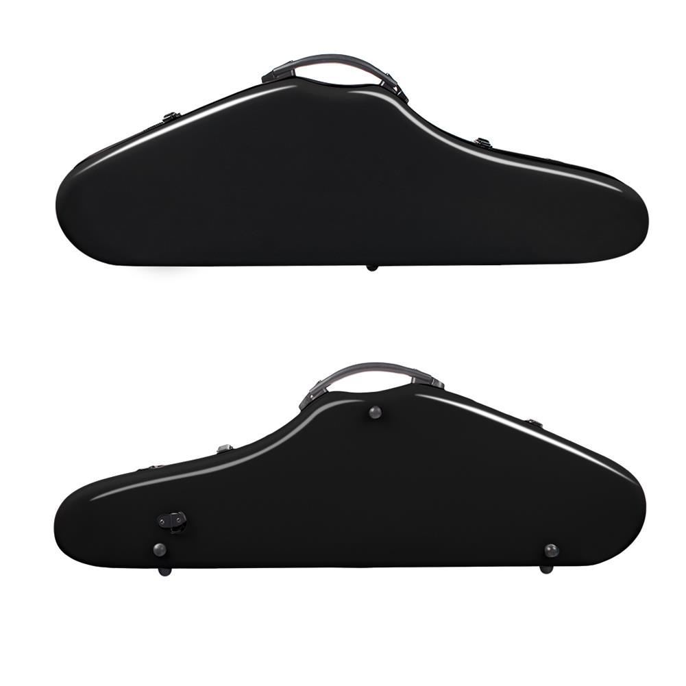 strings-accessories NAOMI Composite Carbon Fiber Full Size Bright Violin Case Cutaway Grand Hard Violin Case for 4/4 Violin HOB1777536 1