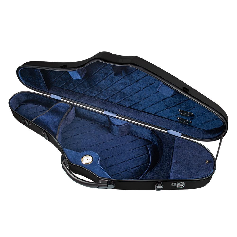 strings-accessories NAOMI Composite Carbon Fiber Full Size Bright Violin Case Cutaway Grand Hard Violin Case for 4/4 Violin HOB1777536 3