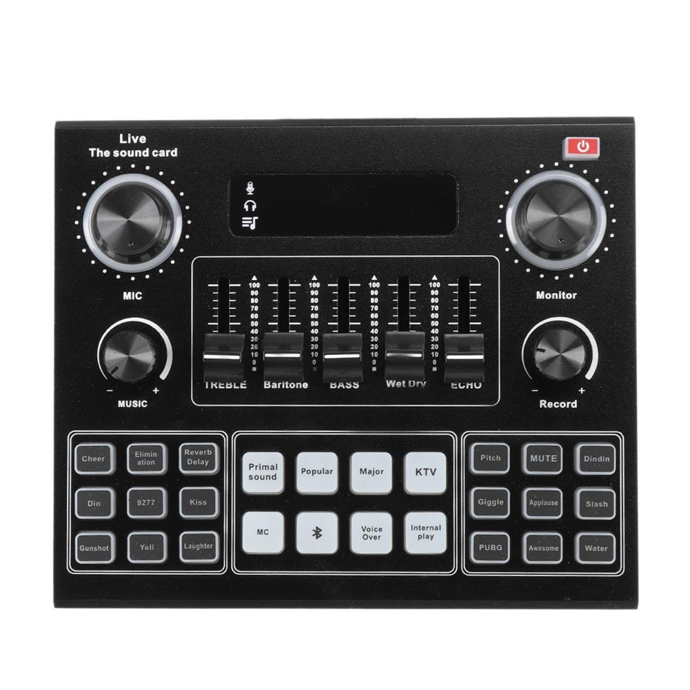 dj-mixers-equipment GAX-V9 Bluetooth Audio Mixer Sound Card USB External Computer PC Mobile Phone Live Audio Microphone Sound Card HOB1777558 2