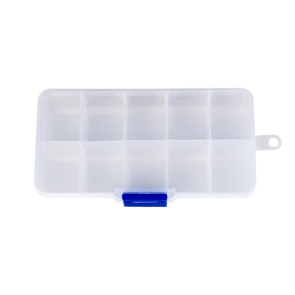 guitar-accessories NAOMI 10 Grids Plastic Storage Box Guitar Pick Box for Musical instrument Accessories HOB1777667
