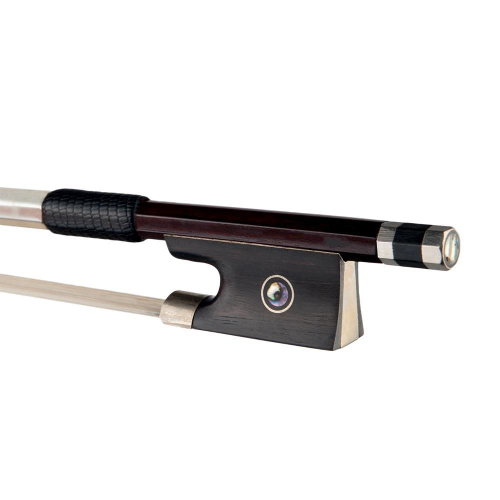 strings-accessories NAOMI 4/4 Full Size Violin Bow Brazilwood Bow Stick Ebony Frog Mongolia Horsetail Bow Hair HOB1777807 1