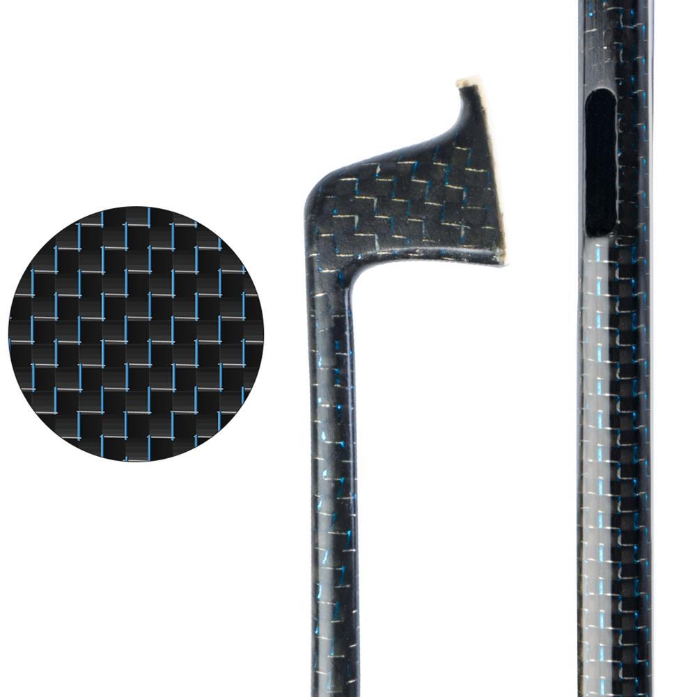 strings-accessories NAOMI 4/4 Plaid Carbon Fiber Violin Bow Blue Silk Woven Semi Finished Bow Stick HOB1777813 1