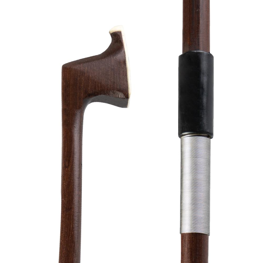 strings-accessories NAOMI Brazilian Wood Round Rod Iron Wire Wrapped Plastic Leather Semi Finished Product Violin Bow for 4/4 Violin HOB1777833 1