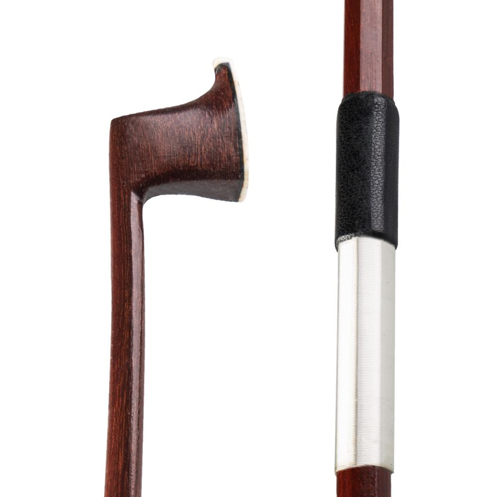 strings-accessories NAOMI Brazilian Wood Round Rod Silver Wire Wrapped Sheepskin Semi Finished Violin Bow for 4/4 Violin HOB1777836 1