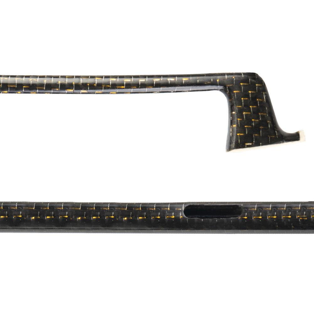 strings-accessories NAOMI Semi Finished Carbon Fiber Violin Bow Checkered with Gold Wire for 4/4 Violin HOB1777856
