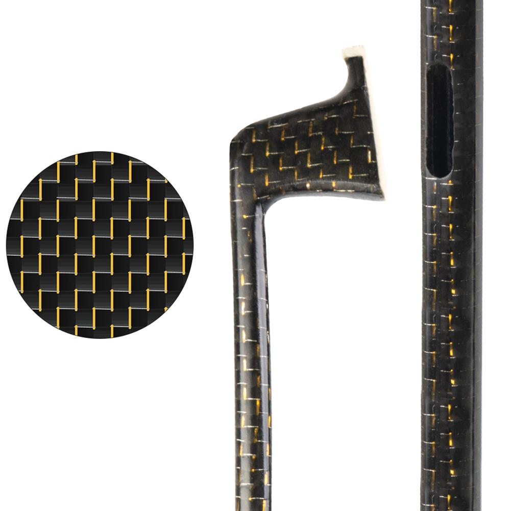 strings-accessories NAOMI Semi Finished Carbon Fiber Violin Bow Checkered with Gold Wire for 4/4 Violin HOB1777856 1