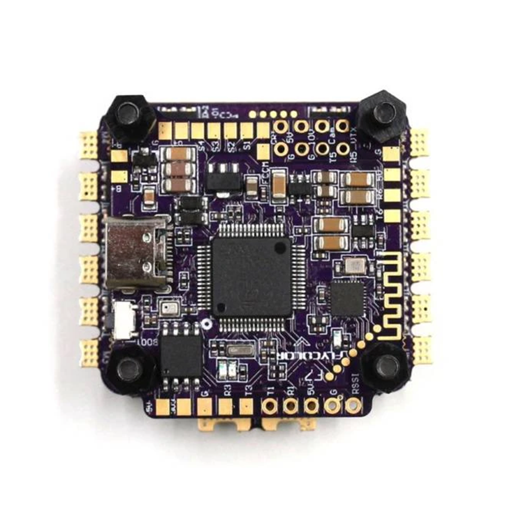 multi-rotor-parts 30.5x30.5mm FlyColor X-Tower 2 F7 Bluetooth Flight Controller w/ 5V 10V BEC Ouput & 60A BL_32 3-6S 4in1 ESC Support DJI Air Unit RC Drone FPV Racing HOB1778058 1
