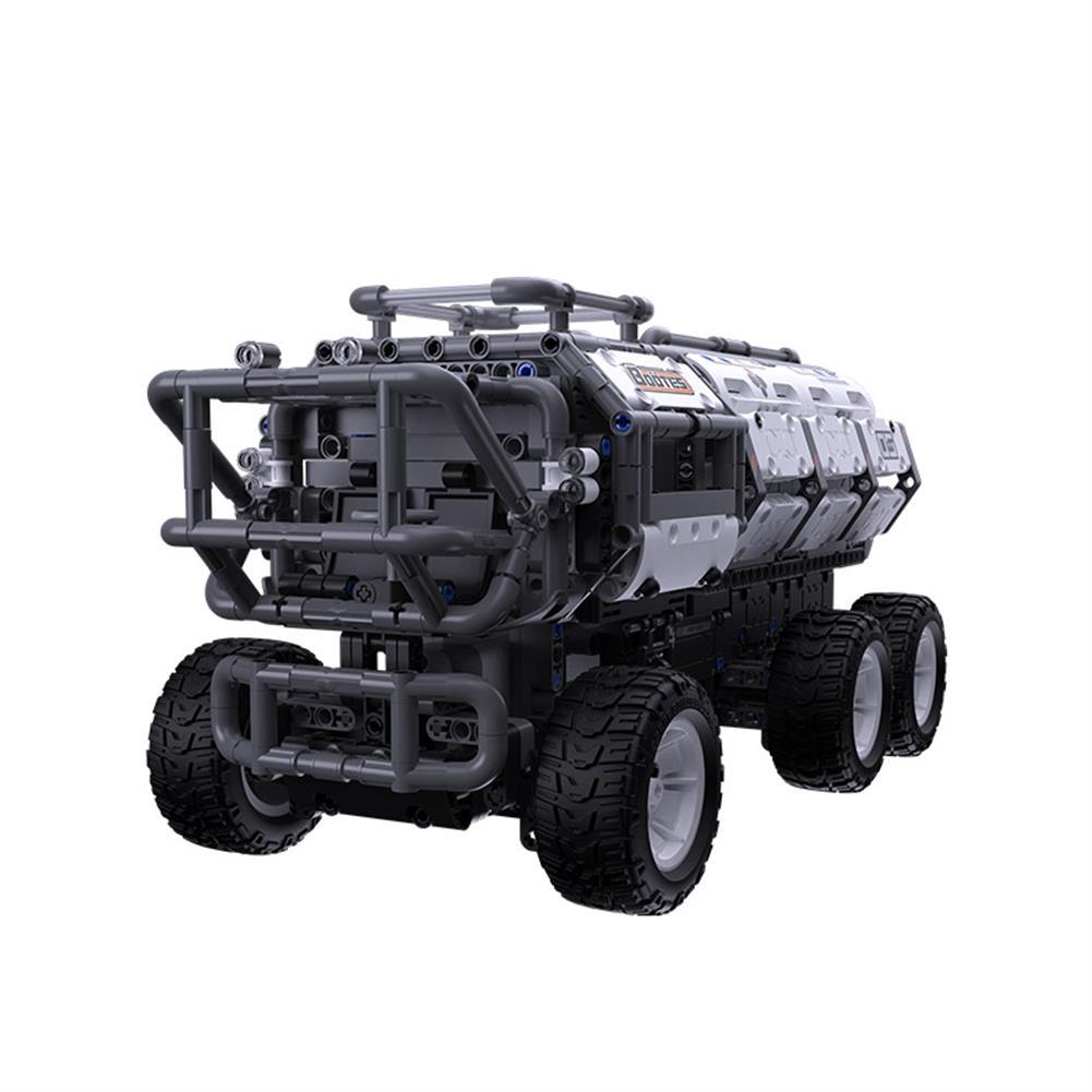 smart-robot-car Jupiter Dawn Series Smart Building Blocks Set Shepherd Carrier Bluetooth 5.0 APP Control Children Educational RC Car Toy HOB1778113 1