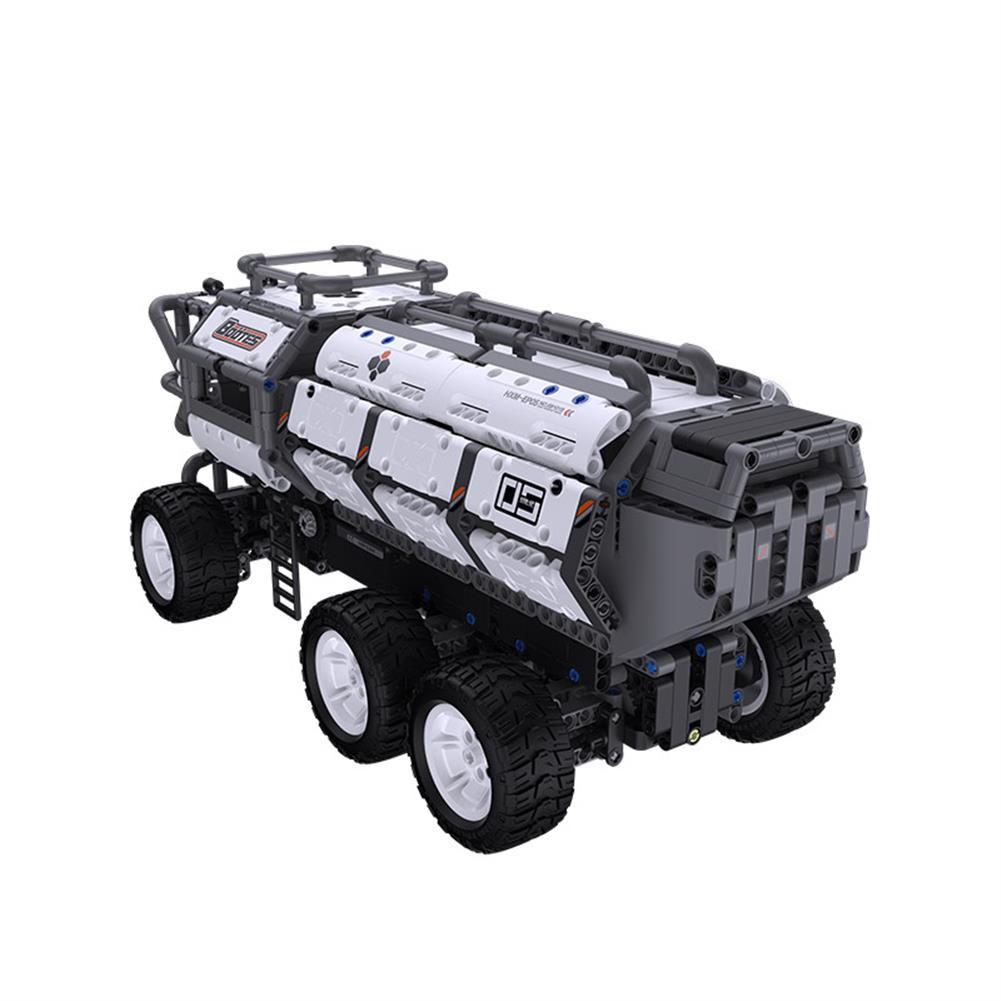 smart-robot-car Jupiter Dawn Series Smart Building Blocks Set Shepherd Carrier Bluetooth 5.0 APP Control Children Educational RC Car Toy HOB1778113 2