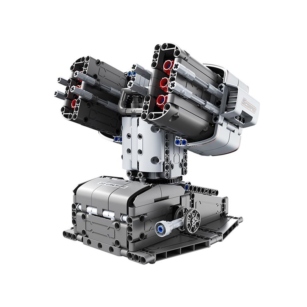robot-toys Jupiter Dawn Smart Building Blocks Set Scorpio Defenses Tower Bluetooth 5.0 APP Control Children Educational RC Robot Toy HOB1778129