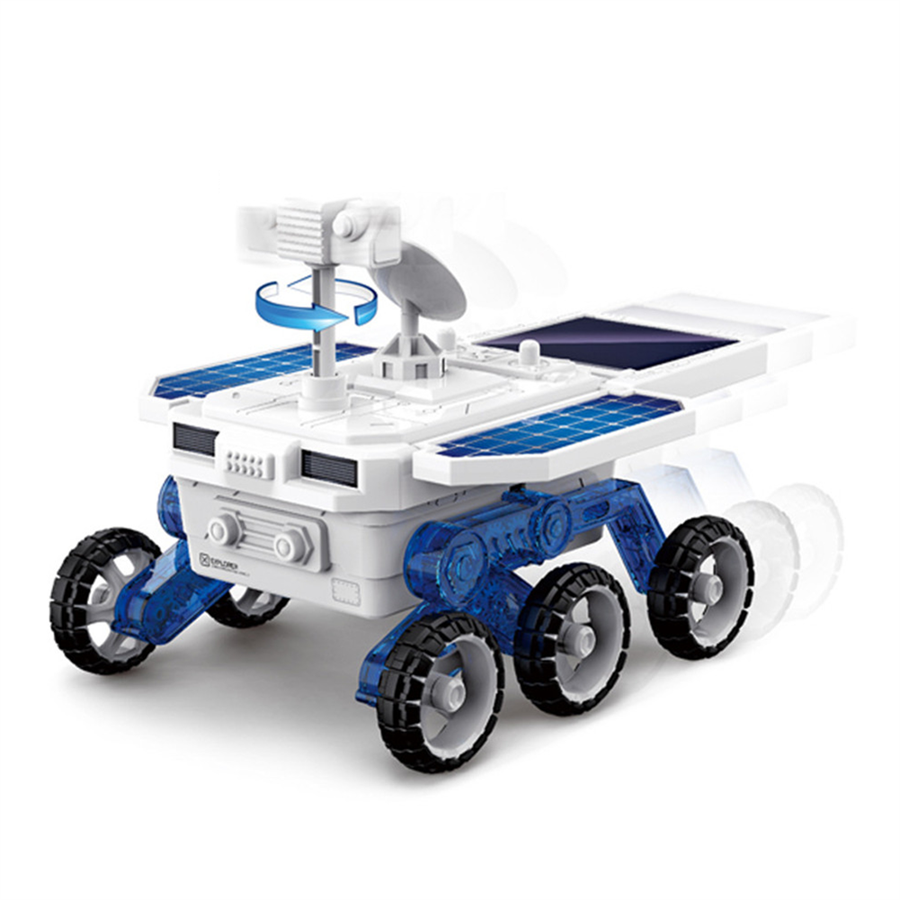 solar-powered-toys DIY Solar Planet Rover STEM Assembly 4-wheel Drive Electric Science And Educational Model Toys HOB1779249