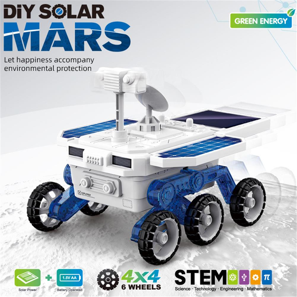 solar-powered-toys DIY Solar Planet Rover STEM Assembly 4-wheel Drive Electric Science And Educational Model Toys HOB1779249 1