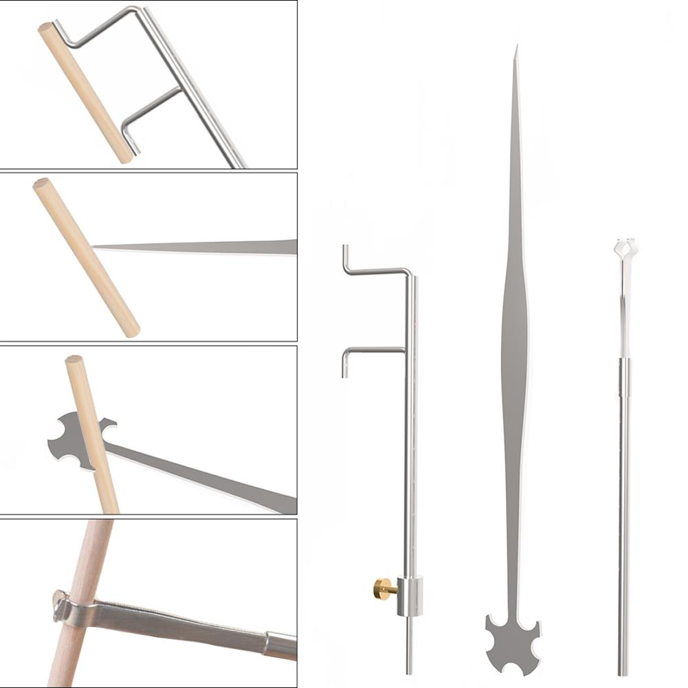 strings-accessories NAOMI Cello 3 Piece Sound Column Hook Column Ruler Caliper for Cello Repair Accessories HOB1780926 2