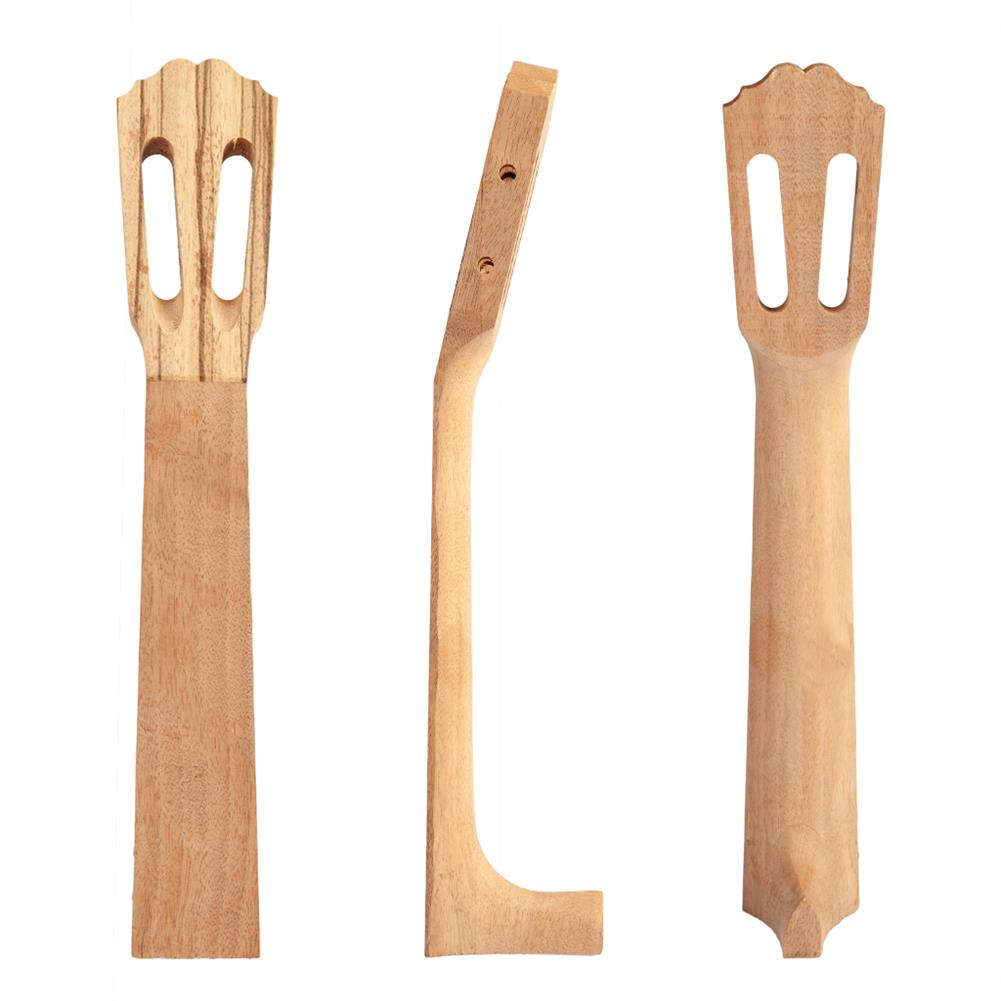 strings-accessories NAOMI Wavy Head Ukulele Head Neck Zebra Wood for 23 inch Ukulele HOB1780930 1