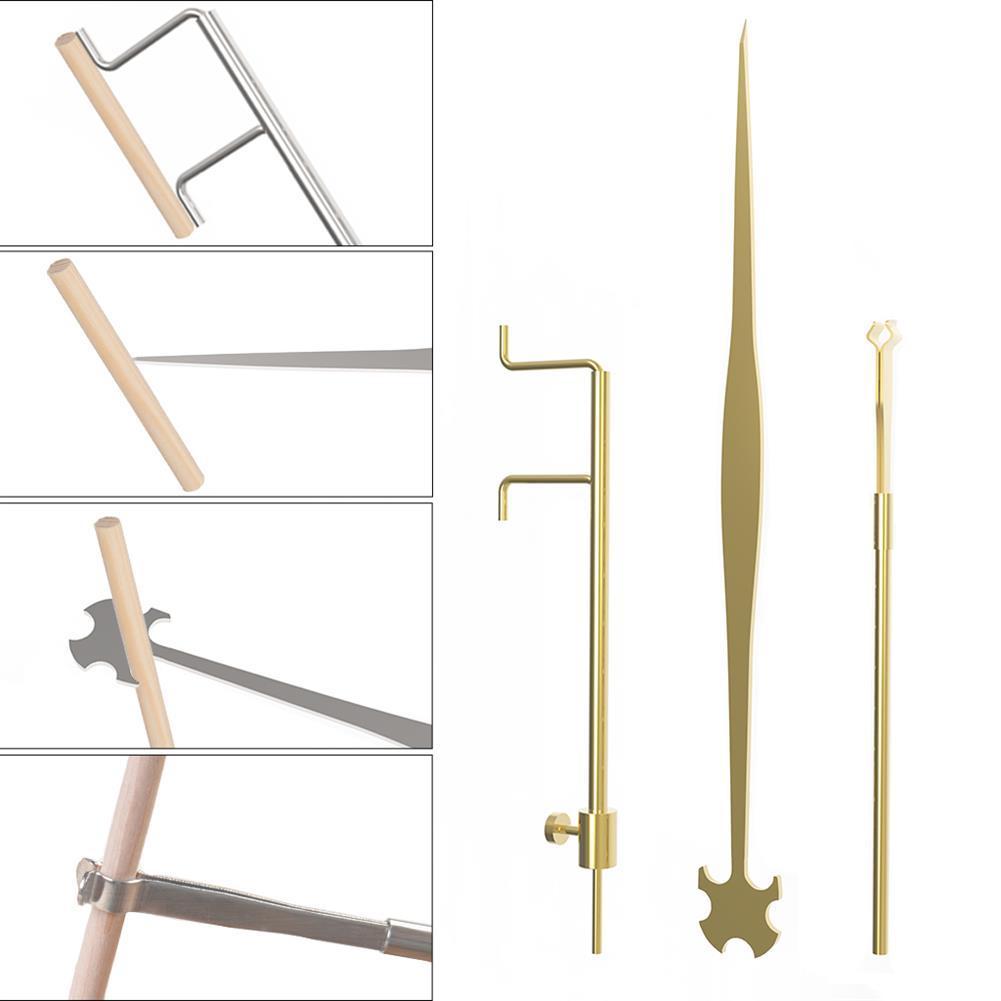 strings-accessories NAOMI Cello 3 Piece Sound Column Hook Column Ruler Caliper for Cello Repair Accessories HOB1780943 2
