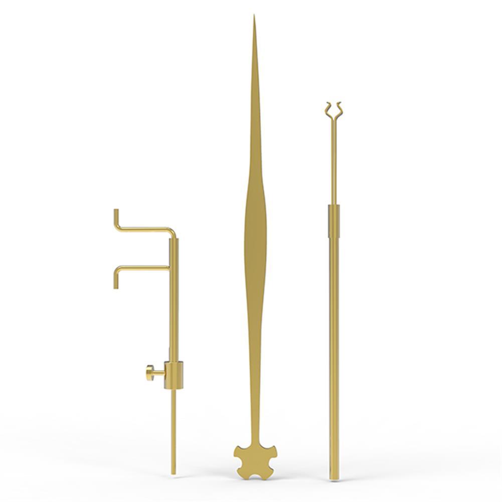 strings-accessories NAOMI Violin 3 Piece Sound Column Hook Column Ruler Caliper for Violin Repair Accessories HOB1780945