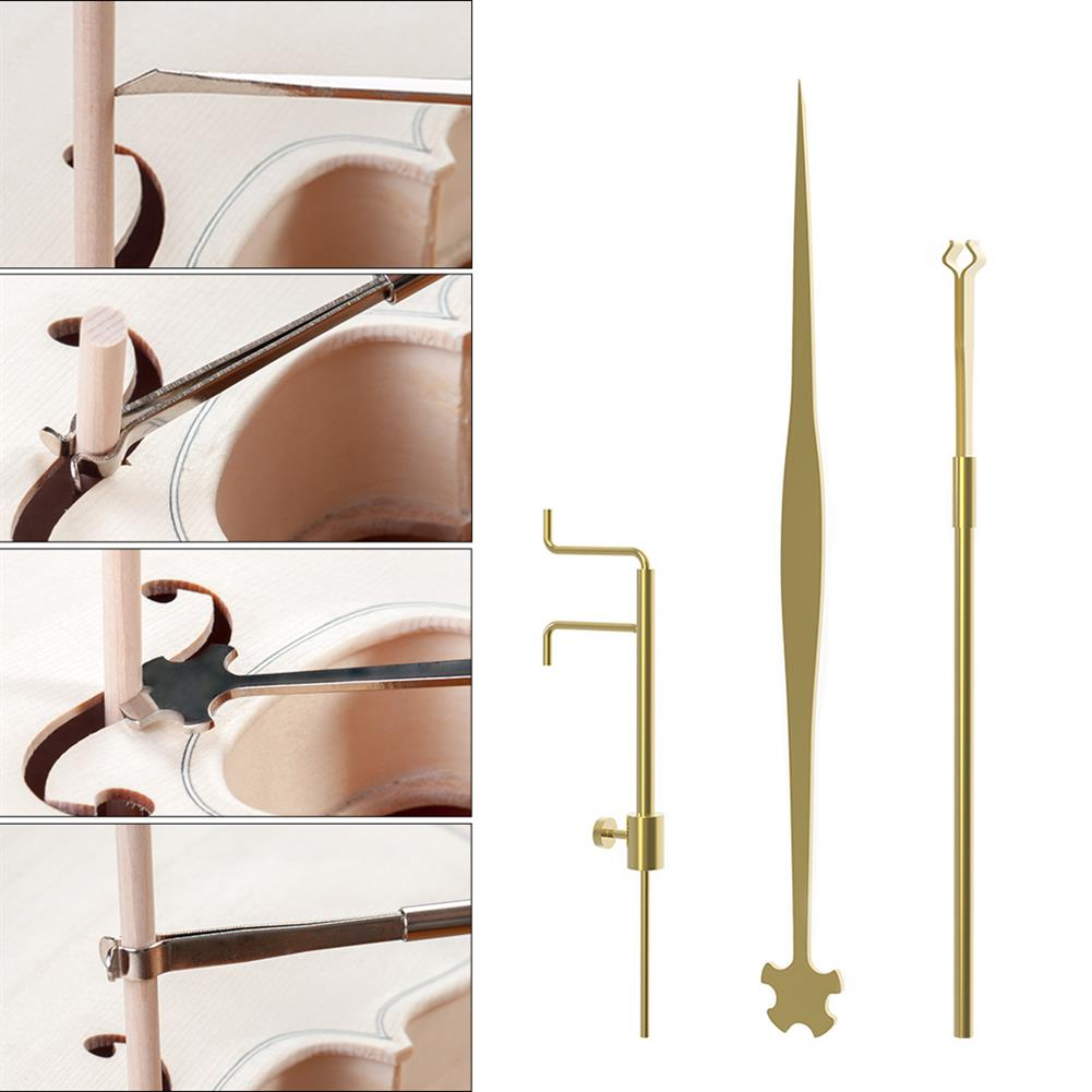strings-accessories NAOMI Violin 3 Piece Sound Column Hook Column Ruler Caliper for Violin Repair Accessories HOB1780945 2