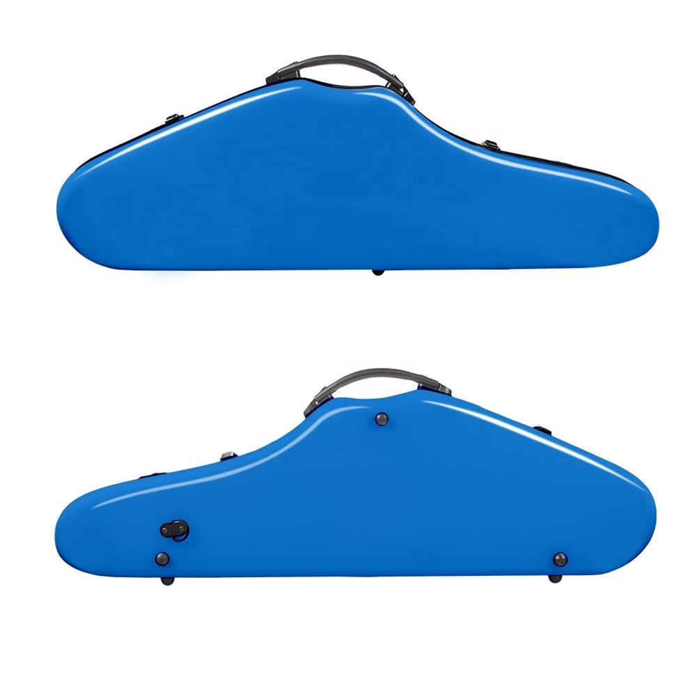 strings-accessories NAOMI Composite Carbon Fiber Full Size Bright Violin Case Cutaway Grand Hard Violin Case for 4/4 Violin HOB1780958 1