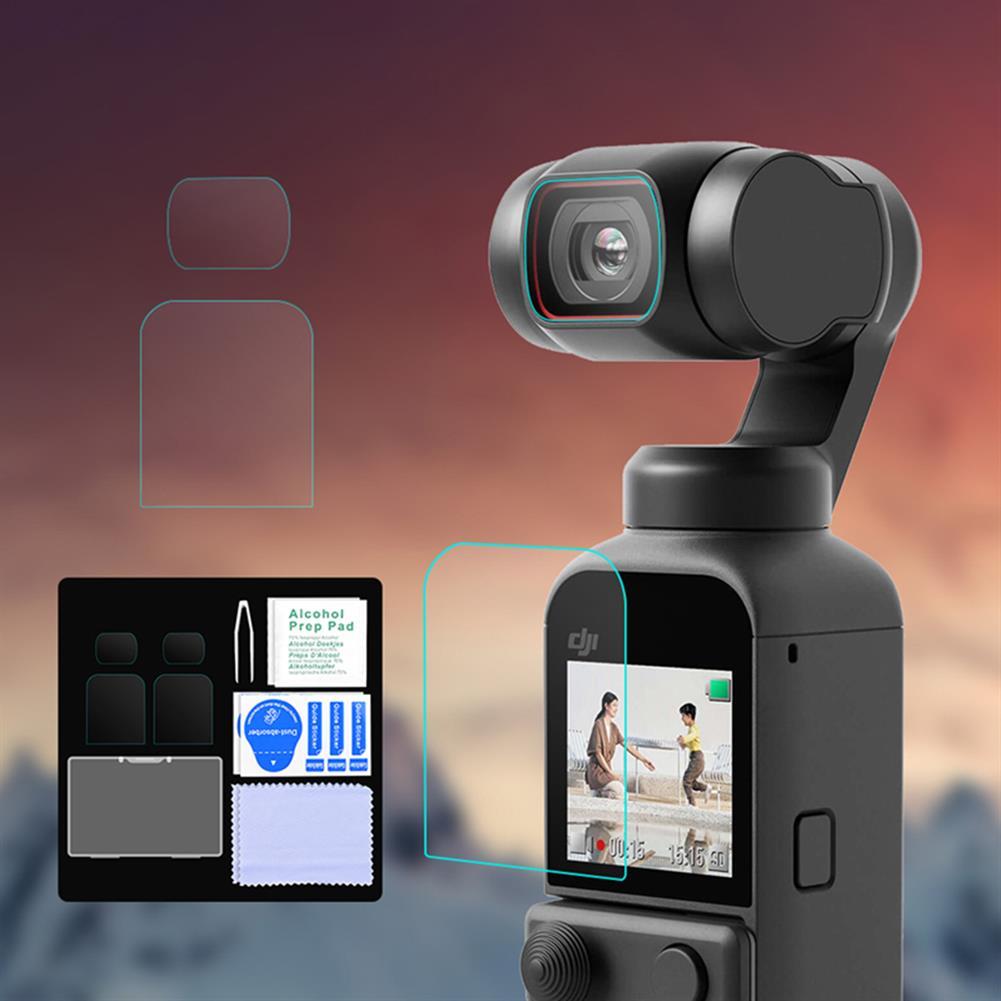 fpv-system 1 Set/ 2 Sets Lens Protective Tempered Film Screen Protector for DJI OSMO POCKET 2 Handheld Gimbal HOB1780959