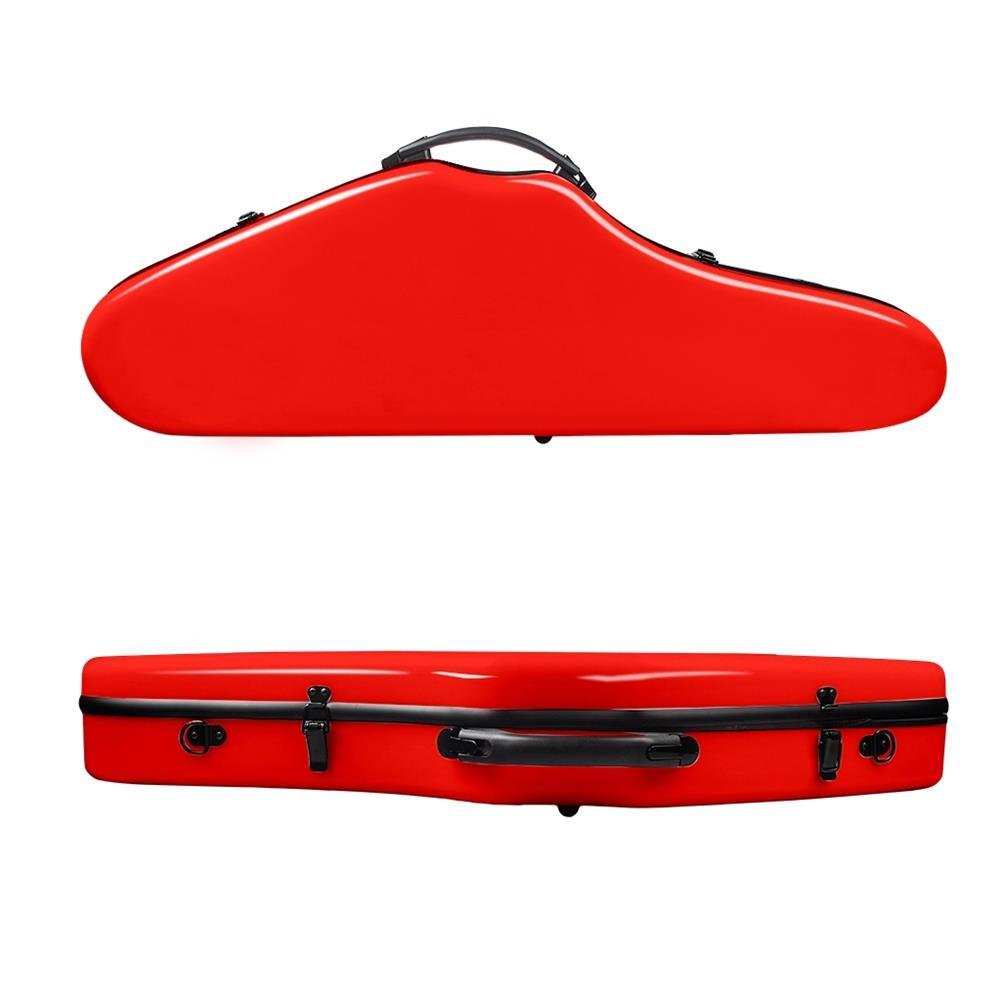 strings-accessories NAOMI Composite Carbon Fiber Full Size Bright Violin Case Cutaway Grand Hard Violin Case for 4/4 Violin HOB1780960 2