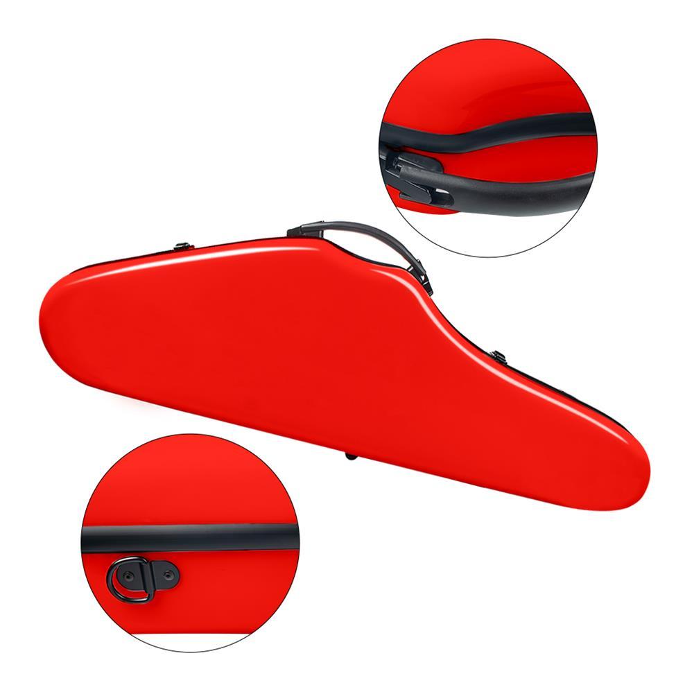 strings-accessories NAOMI Composite Carbon Fiber Full Size Bright Violin Case Cutaway Grand Hard Violin Case for 4/4 Violin HOB1780960 3