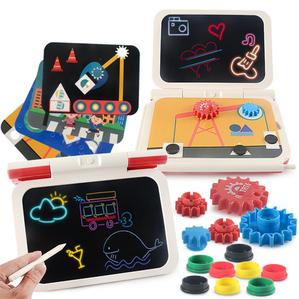 paper-art-drawing 2-in-1 DIY LCD Drawing Board Multi-function Plug-in tablet Hand Writing Board 270 Degrees Foldable Children's Toy HOB1781181