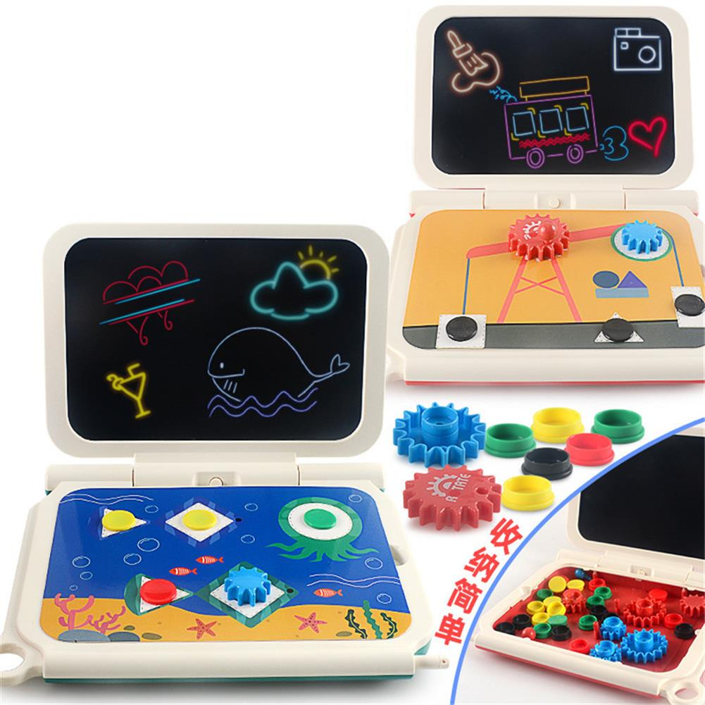 paper-art-drawing 2-in-1 DIY LCD Drawing Board Multi-function Plug-in tablet Hand Writing Board 270 Degrees Foldable Children's Toy HOB1781181 1