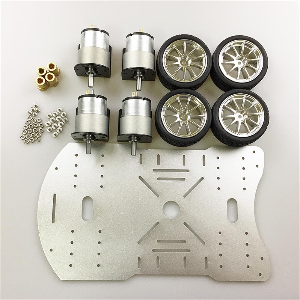 robot-parts-tools MOEBIUS Smart Car Metal Chassis 4 Wheel Car Kit HOB1781935 2