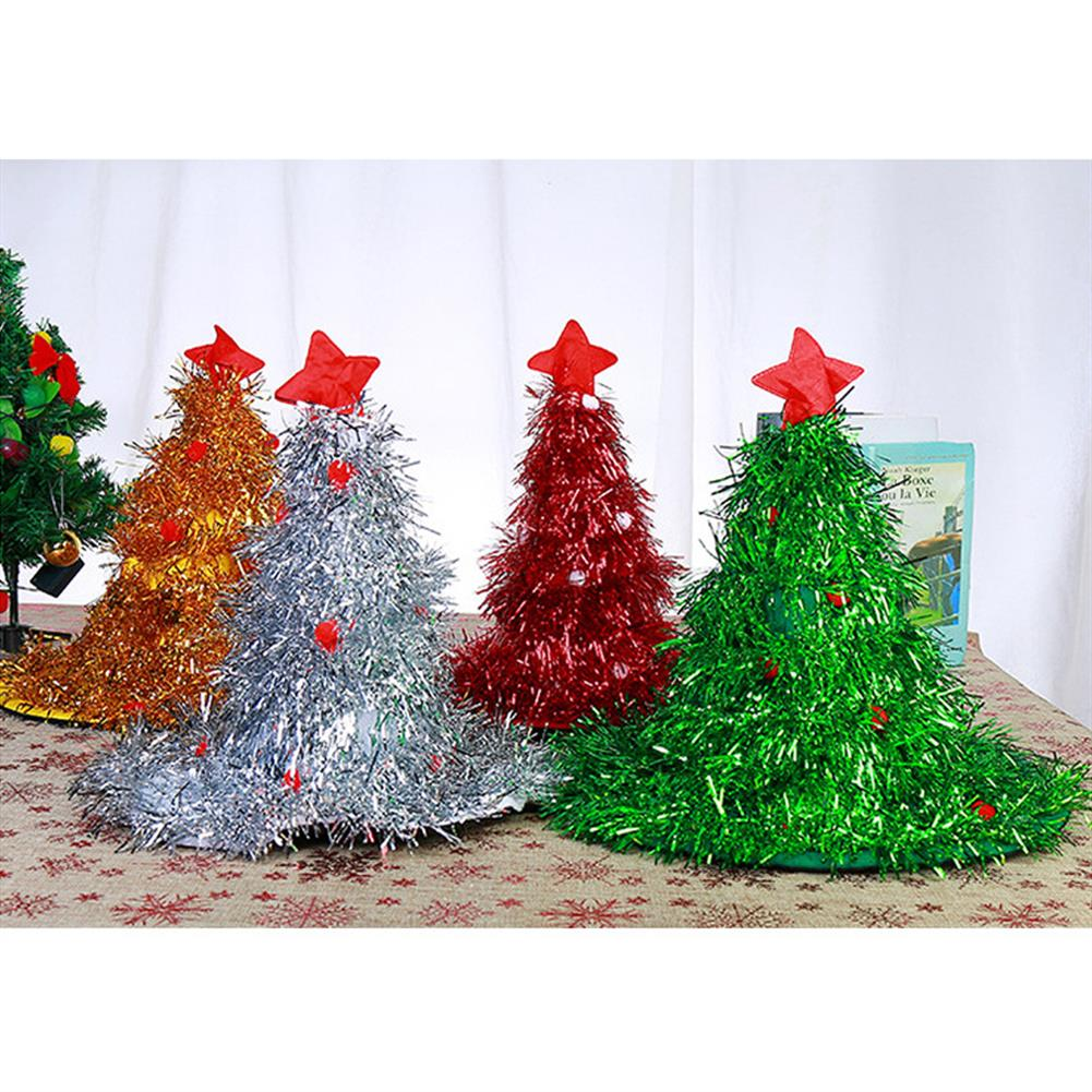 decoration 2020 40*44CM New Multi-color Christmas Tree Shape Christmas Hat Party Props Decoration Toy for Holiday Gift HOB1781985