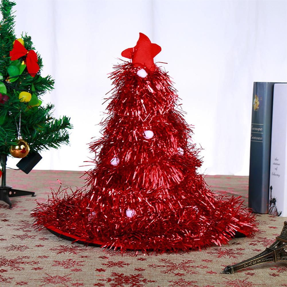 decoration 2020 40*44CM New Multi-color Christmas Tree Shape Christmas Hat Party Props Decoration Toy for Holiday Gift HOB1781985 1