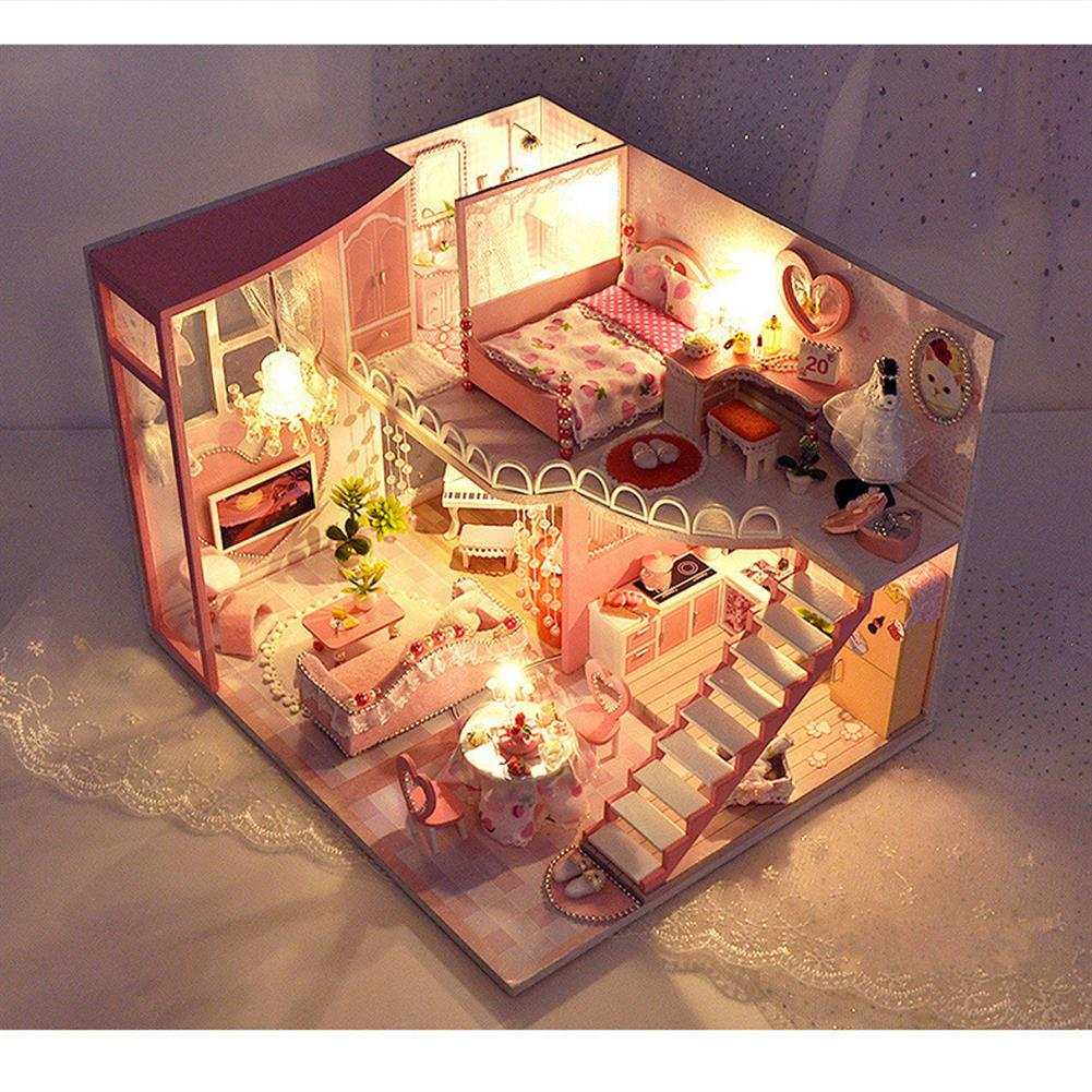 doll-house-miniature TIANYU TC40 Dream Loft Edition DIY Doll House Hand Assembled Model Creative Gift with Dust Cover HOB1782578 1