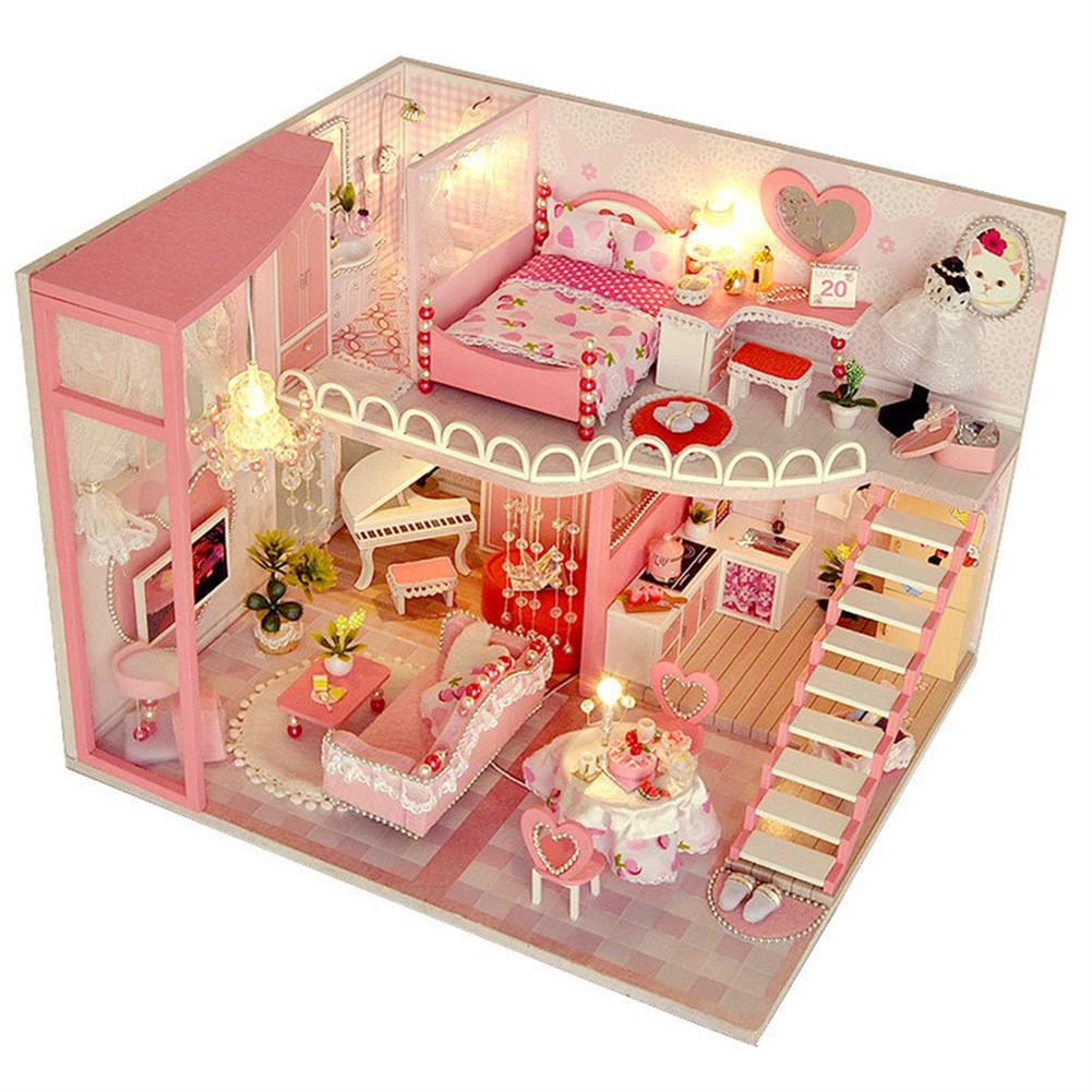 doll-house-miniature TIANYU TC40 Dream Loft Edition DIY Doll House Hand Assembled Model Creative Gift with Dust Cover HOB1782578 3
