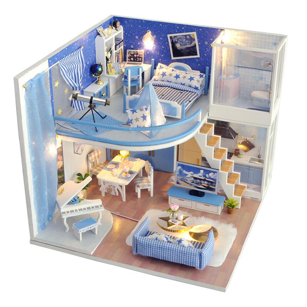 doll-house-miniature TIANYU Dream Starry Sky (Loft Edition) TD39 DIY Doll House Hand-Assembled Model Creative Creative Toy with Dust Cover HOB1783033 1