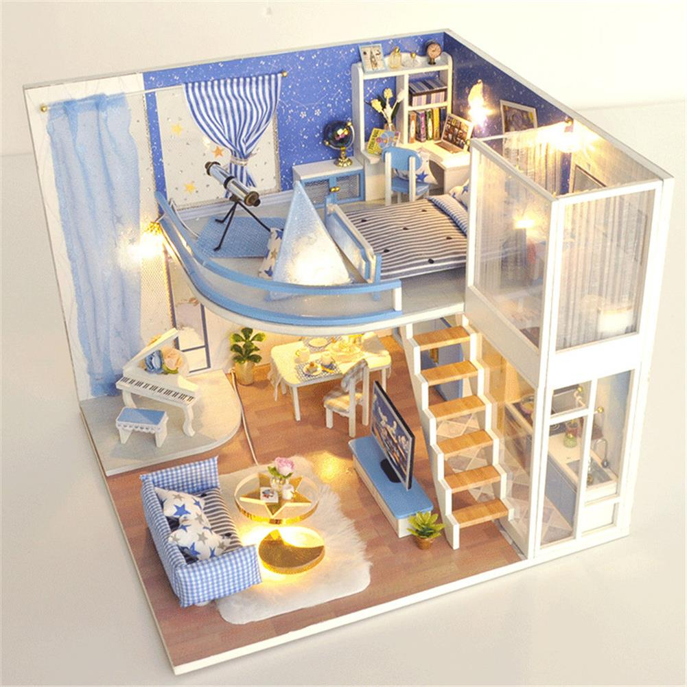 doll-house-miniature TIANYU Dream Starry Sky (Loft Edition) TD39 DIY Doll House Hand-Assembled Model Creative Creative Toy with Dust Cover HOB1783033 2