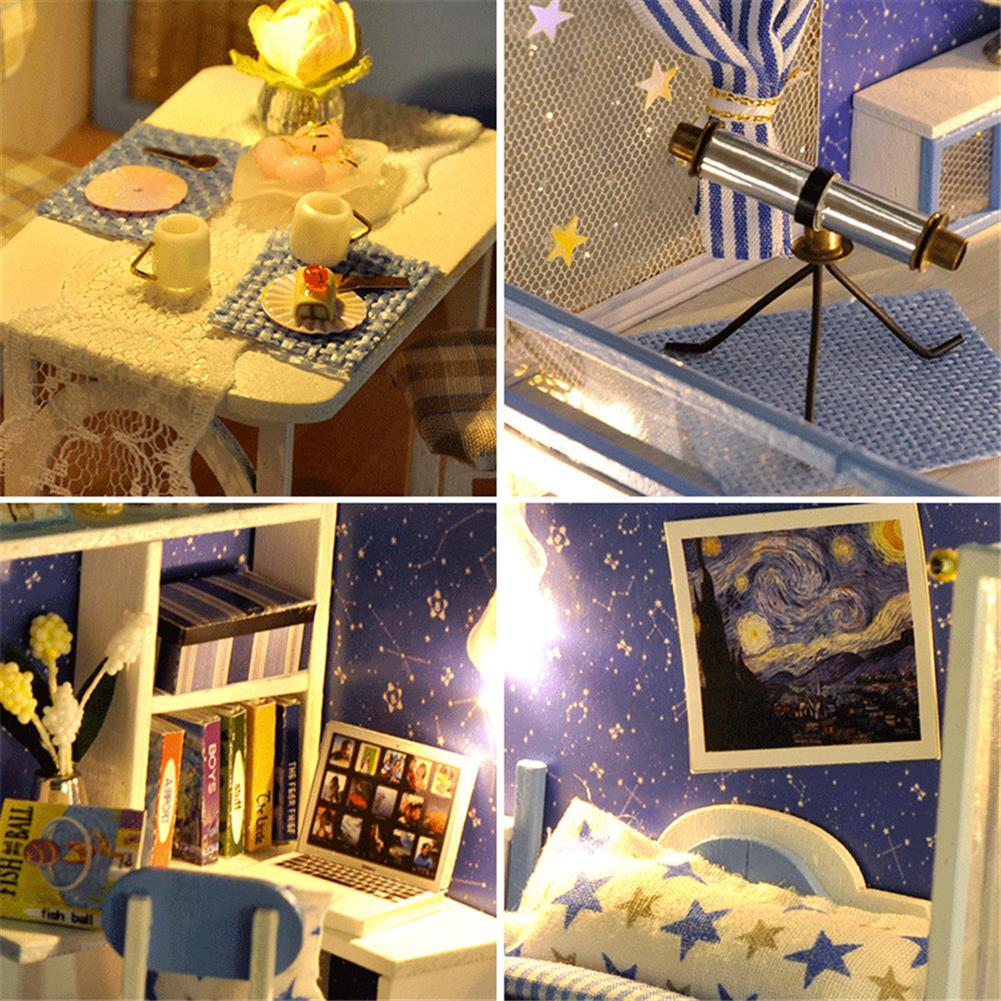 doll-house-miniature TIANYU Dream Starry Sky (Loft Edition) TD39 DIY Doll House Hand-Assembled Model Creative Creative Toy with Dust Cover HOB1783033 3