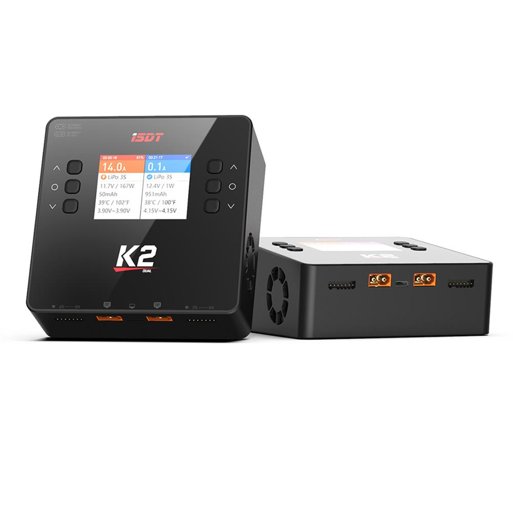 battery-charger ISDT K2 AC 200W DC 500Wx2 20A Dual Channel Balance Lipo Charger Discharger for Lipo NiMh Pb Battery HOB1783527 1