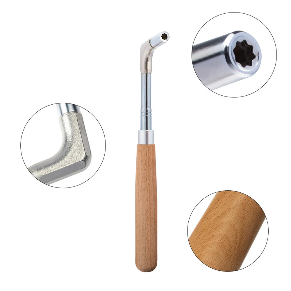 keyboard-accessories NAOMI Professional Piano Tuning Tool Kit Color Wooden Handle Straight Rod Octagonal Hammer Rubber Wedge Mute HOB1783893 3