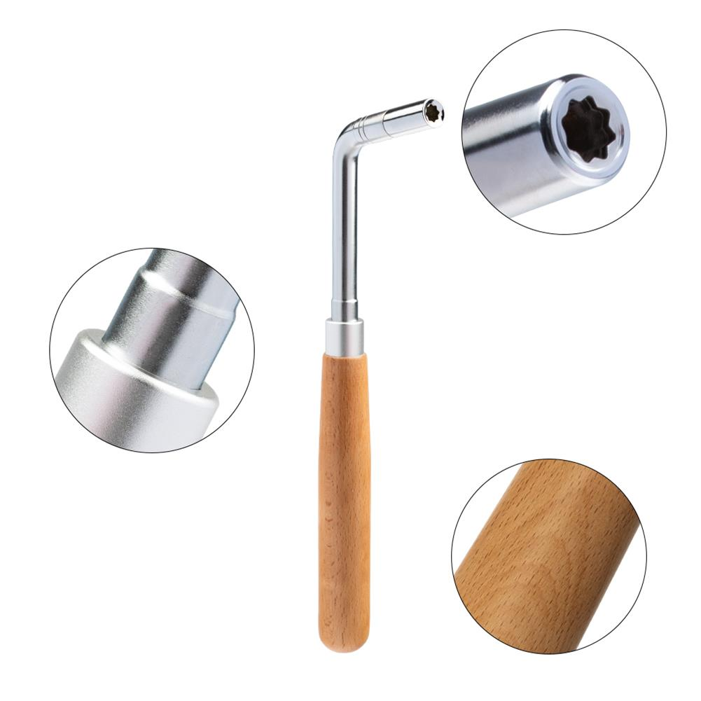 keyboard-accessories NAOMI Professional Piano Tuning Tool Kit Color Wooden Handle Straight Rod Octagonal Hammer Rubber Wedge Mute HOB1783894 3