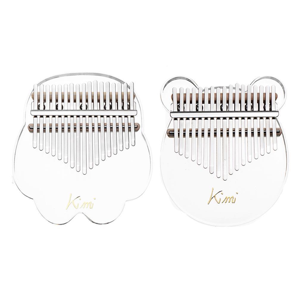 kalimba KIMI M-10/M-1 17 Keys Acrylic Kalimba Plate Type Crystal Clear Thumb Piano HOB1783944