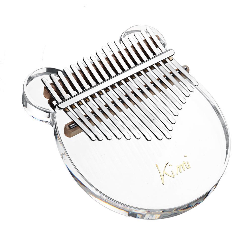 kalimba KIMI M-10/M-1 17 Keys Acrylic Kalimba Plate Type Crystal Clear Thumb Piano HOB1783944 3