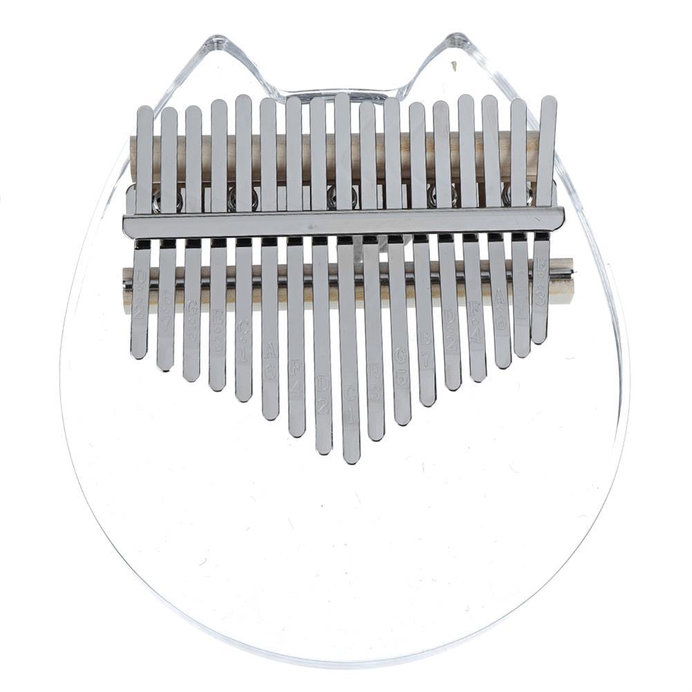 kalimba NAOMI K01-C Crystal Cat Face Kalimba Acrylic 17 Key Thumbs Piano Musical instruments HOB1783954 1