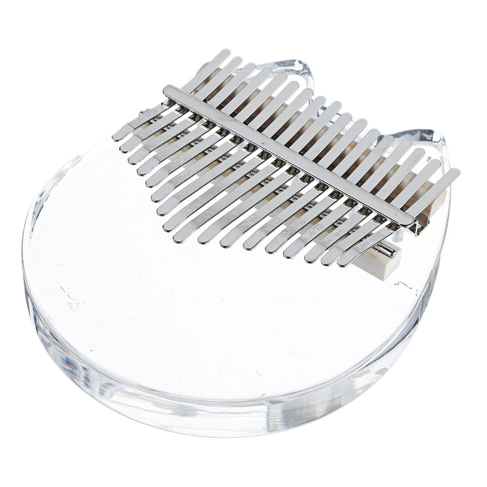 kalimba NAOMI K01-C Crystal Cat Face Kalimba Acrylic 17 Key Thumbs Piano Musical instruments HOB1783954 2