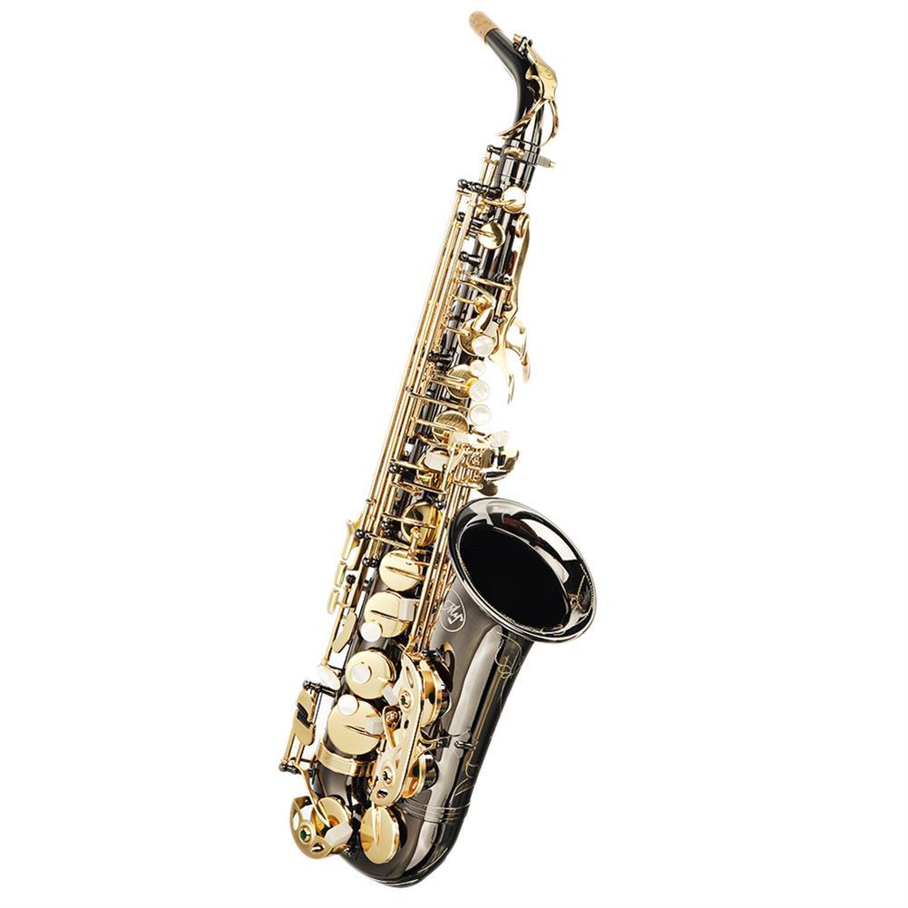 saxophone MY S0198 Black Nickel Plated Gold Key Alto E Flat Brass Alto Saxophone White Shell Clasp HOB1783985 1