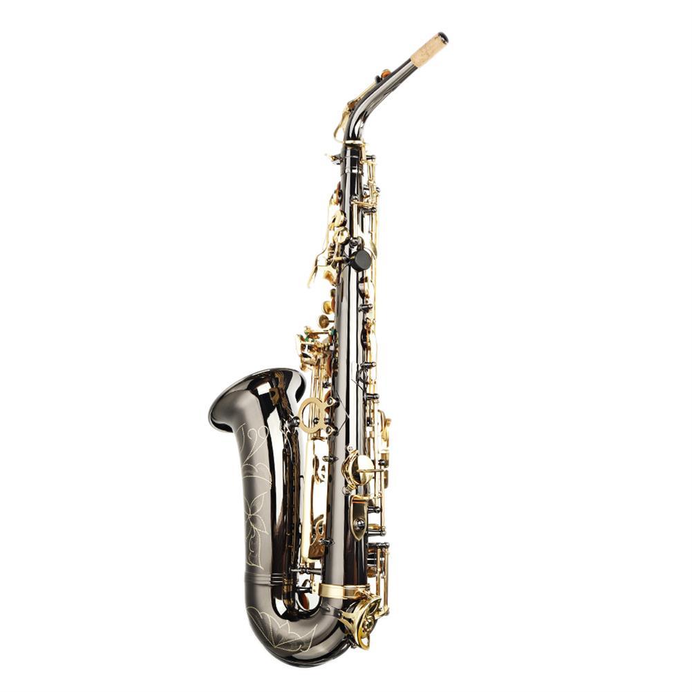 saxophone MY S0198 Black Nickel Plated Gold Key Alto E Flat Brass Alto Saxophone White Shell Clasp HOB1783985 2